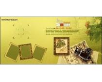 黄绿色调相片模板