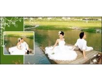 西泊桥畔跨页婚纱模板03
