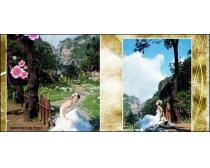 西泊桥畔跨页婚纱模板06