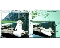 西泊桥畔跨页婚纱模板09