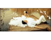 西泊桥畔跨页婚纱模板10