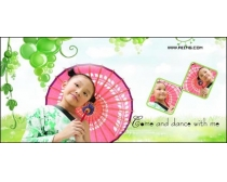 宝贝花园儿童摄影模板