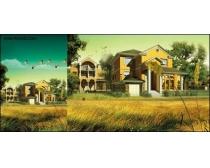公寓风景房产素材