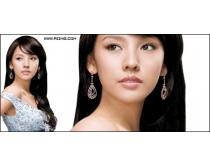发型模特人物图片