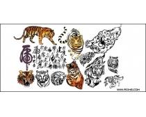 老虎矢量图