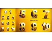 黄金立体数字