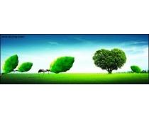 心型树与蚂蚁psd素材