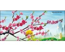 美丽的桃花风景图片