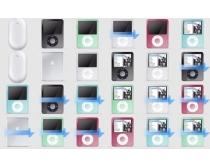 超大苹果ipod和鼠标图标