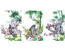 七幅经典的梅兰竹菊