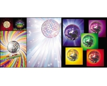 5张舞厅彩球矢量素材