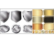 金属风格相框矢量素材