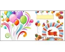 礼品和气球矢量素材