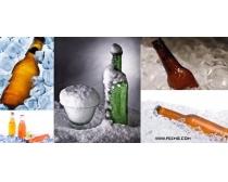 5张酒瓶与冰块高清图片
