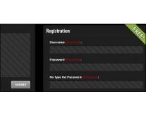 黑色的注册框PSD源文件