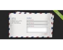 邮件反馈表PSD源文件