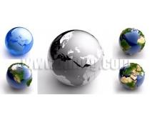 5张3D地球模型高清图片