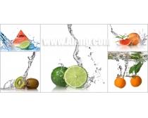 5张水果与水高清图片