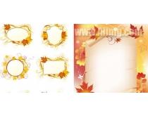 素材 边框/枫叶主题装饰边框矢量素材