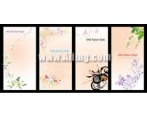 花纹展板背景矢量素材02