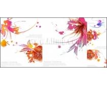 艺术花朵背景矢量素材