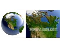 高清地球PSD素材图片