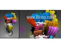 英文3D艺术字图片素材