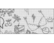 蝴蝶结,蛋糕,星系,黄冠等绘画笔刷