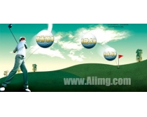 企业文化高尔夫模板