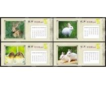 2011年兔年日历模板矢量图