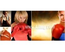 张女/4张女拳击手高清图片