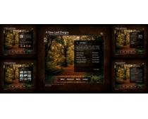 森林风景网页模板源文件