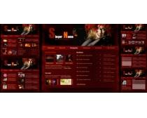 精品红色系列网站模板源文件