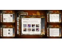 框架个人网站系列模板源文件