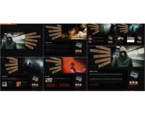 音乐元素英文网页模板