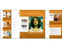 美发商务网页模板
