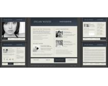博客灰色系列網頁模板