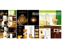 西餐菜谱模板设计素材