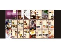 西餐菜谱设计模板矢量图