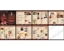 西餐厅菜谱设计矢量源文件