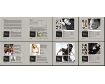 灰色效果網頁模板素材