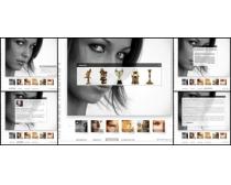 女性国外个人网站模板