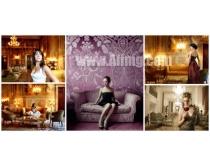 5张西方女人与复古装饰高清图片