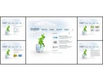 创意卡通白色系网页模板