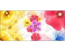 多款彩色花朵矢量素材