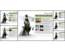 创意白色英文网页模板