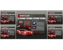 法拉利车网页模板