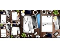 桌上办公用品矢量素材