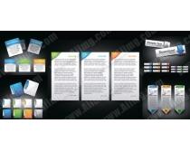 素材/网页Banner按钮图标元素矢量素材