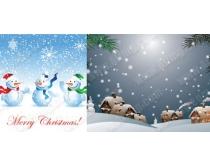 冬天自然风景雪景雪人时时彩平台娱乐